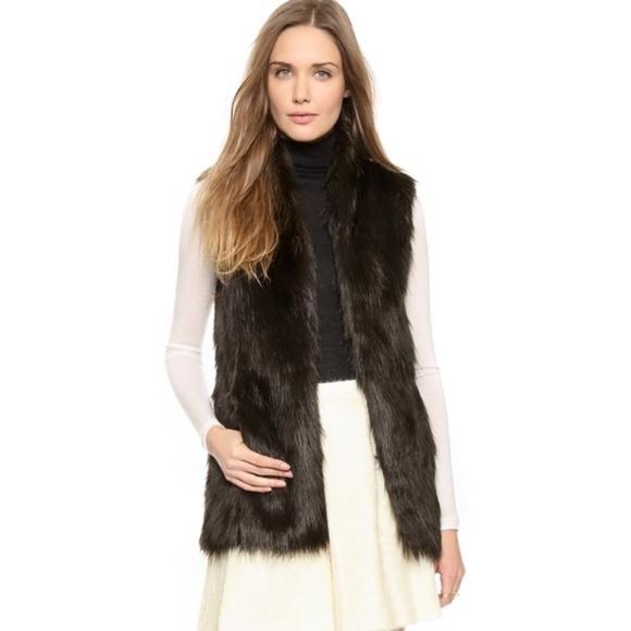 Club Monaco Jackets & Blazers - Club Monaco Faux Fur Vest